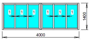 Схема лоджии 4,5 метра.