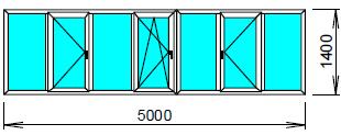Цена пластикового окна для лоджии 5 метров.