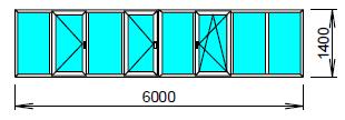 Цена пластикового окна для лоджии 6 метров.